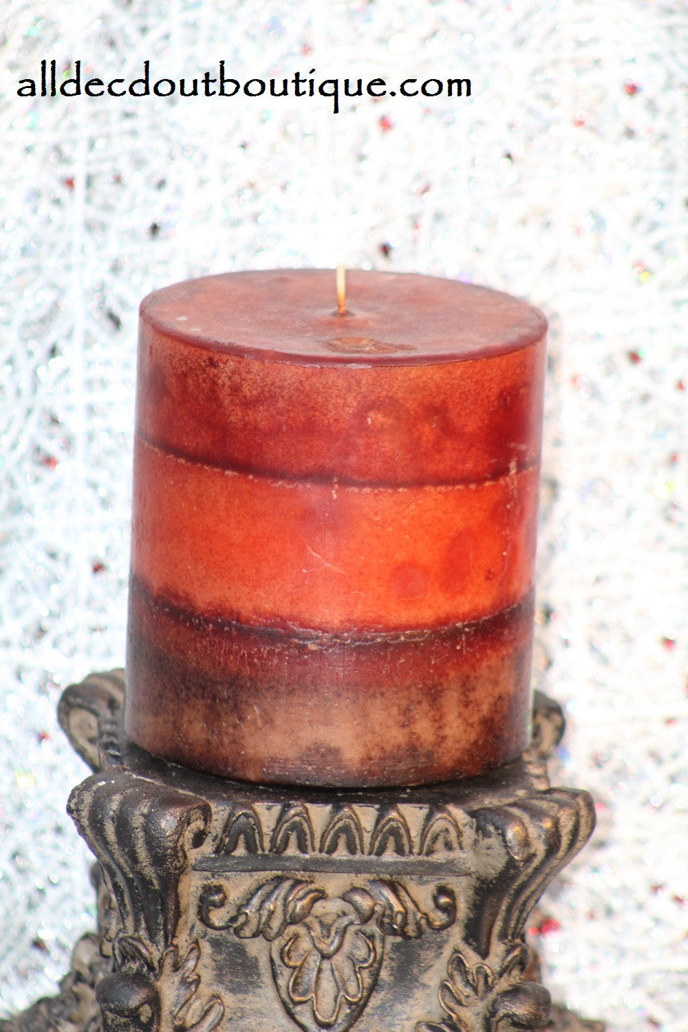 Pillar Candle | Multi Color Scented Decor Candle - All Decd Out