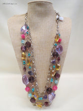 ADO |  Multi Colored 2 Stand Versatile Necklace - All Decd Out