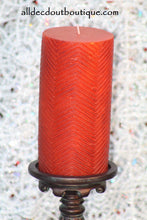 Pillar Candle Orange Tribal Candle