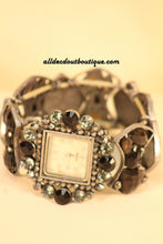 Black/White Black Jewels & Rhinestones | One Size Band - All Decd Out