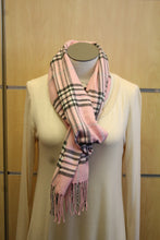 ADO | Cashmere Wrap Scarf Plaid Pink & Grey - All Decd Out