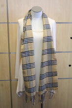 ADO | Cashmere Wrap Scarf Plaid Tan & Black - All Decd Out