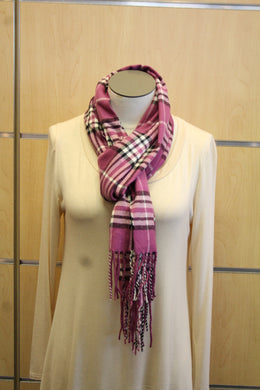ADO | Cashmere Wrap Scarf Plaid Violet - All Decd Out