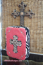 ADO | Pink and Zebra Print Embellished Bible Cover
