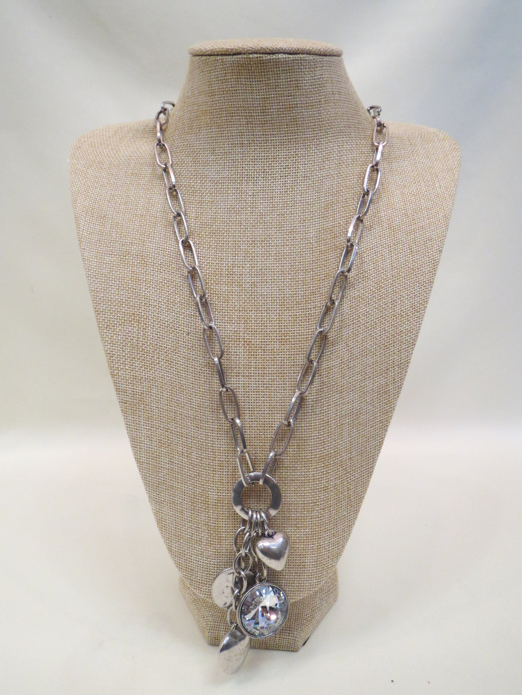 ADO Long Silver Chain Necklace with Pendant | All Dec'd Out