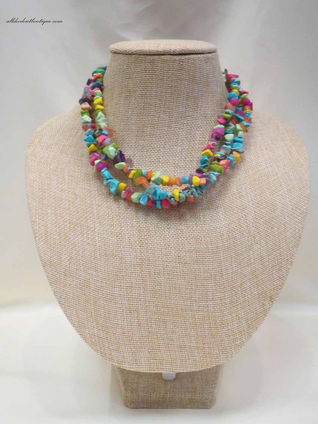 ADO | Necklace with Multi Colored Beads - All Decd Out