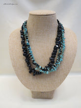 ADO | Black & Turquoise Bead Necklace - All Decd Out