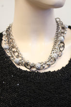 ADO | 4 Layer Hammer Link & Silver Chain Necklace - All Decd Out