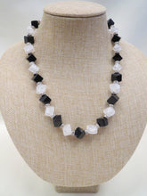 ADO Square Beads Black and White/Clear Necklace | All Dec'd Out