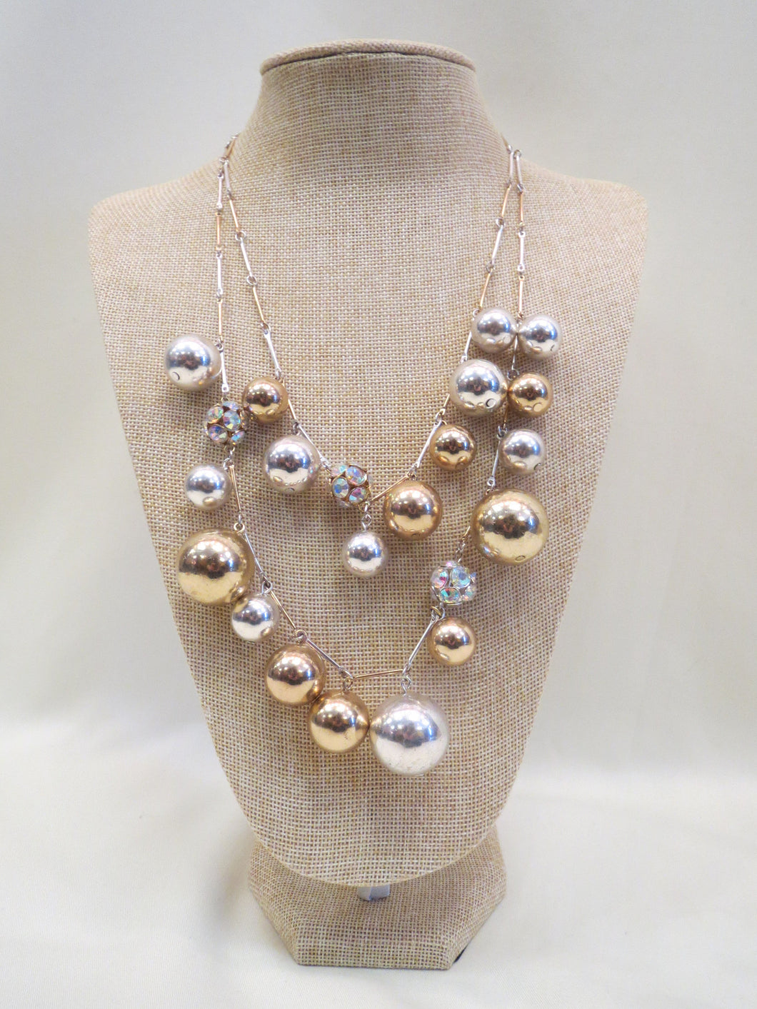 ADO Silver & Gold Ball Necklace | All Dec'd Out