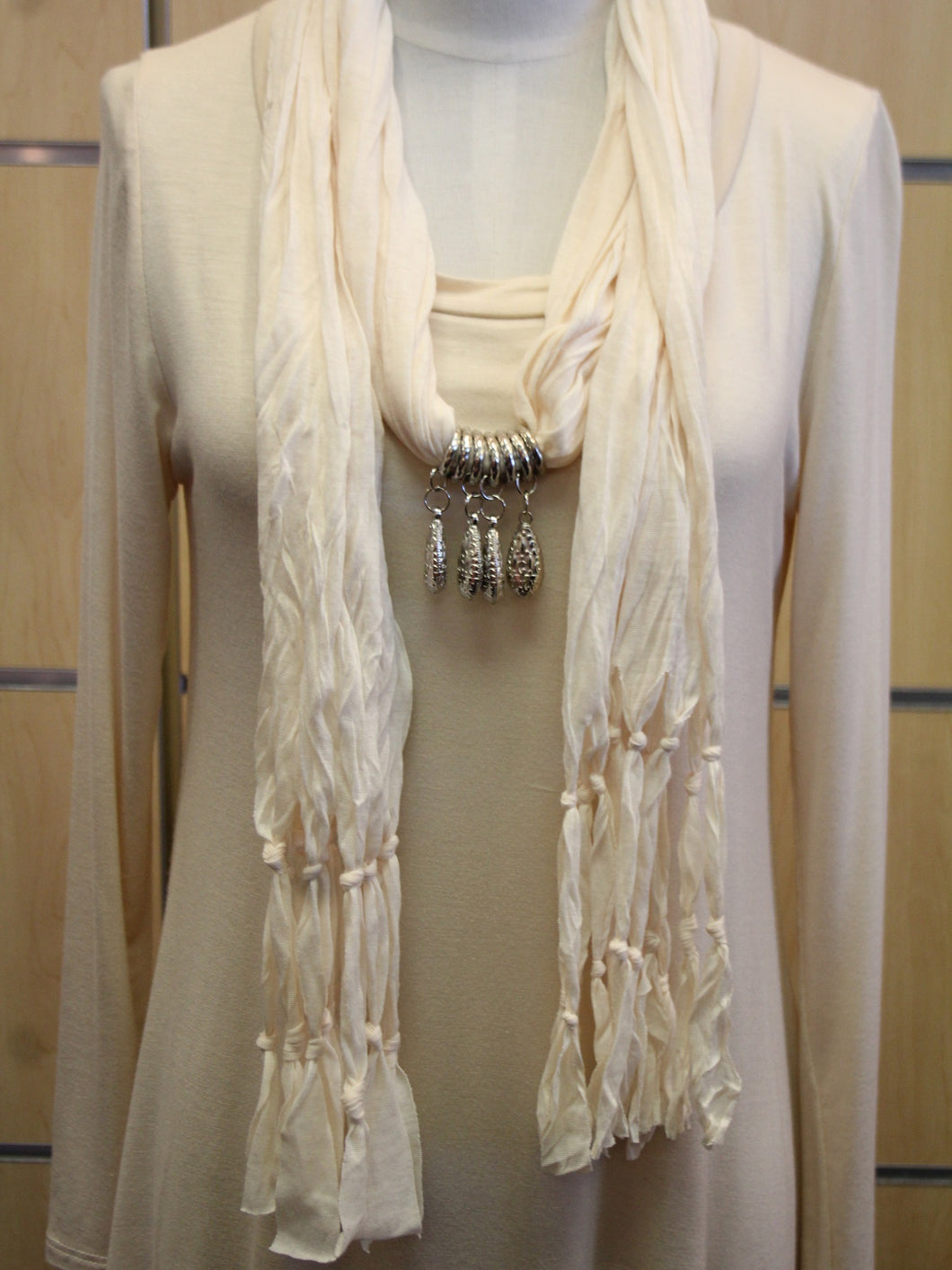 ADO | Jewelry Wrap Scarf Cream Charms