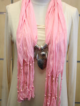 ADO | Jewelry Wrap Scarf Light Pink Heart