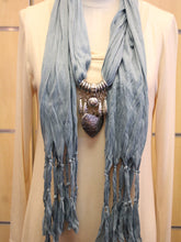 ADO | Jewelry Wrap Scarf Aqua Blue Heart