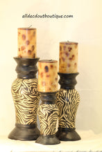 Pillar Candle | 4 X 9 Leopard Candle Tan & Black