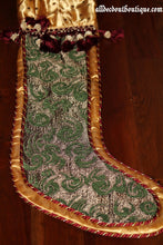 Holiday Season Stocking Green Holiday Design 32""