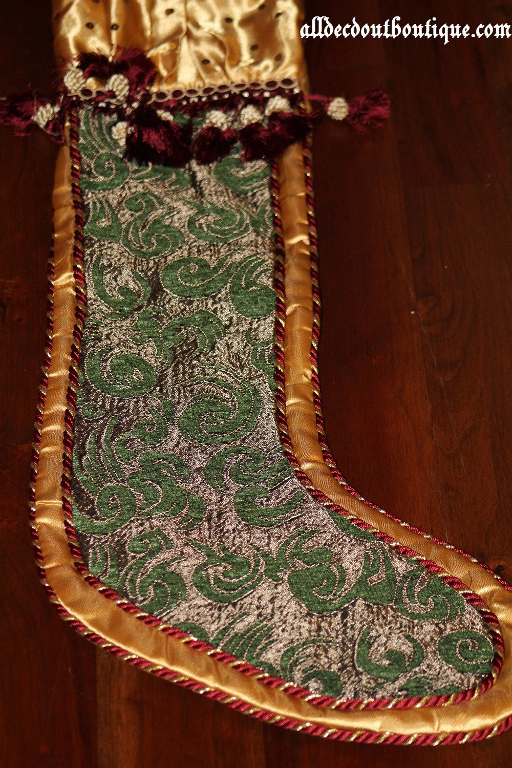 Holiday Season Stocking Green Holiday Design 32