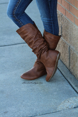 Bonnibel | Danniz Mid-Calf Slouchy Boot Tan