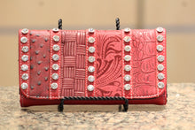 ADO | Bling Trifold Wallet Red - All Decd Out