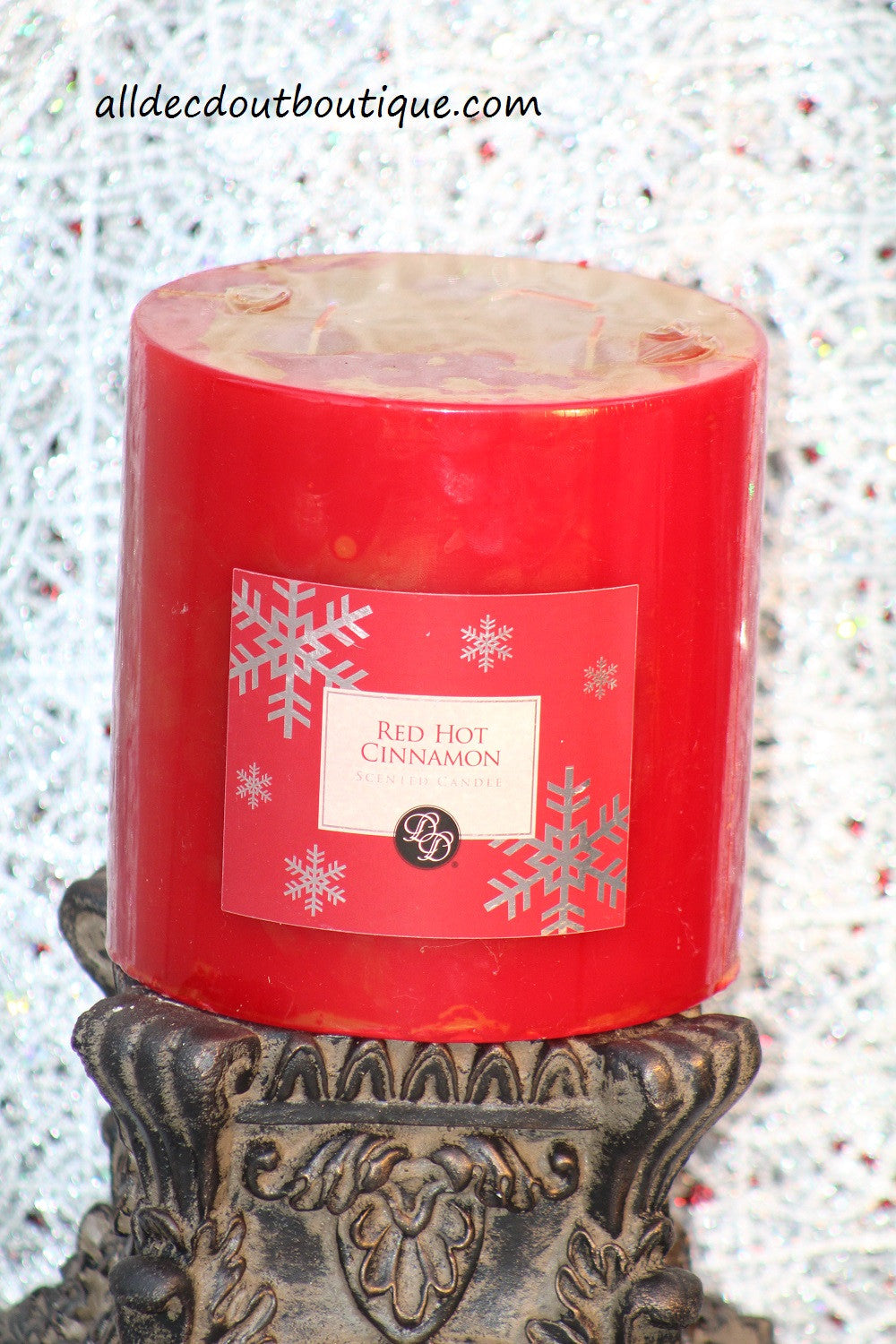 Pillar Candle | 6 x 6 Red Hot Cinnamon - All Decd Out