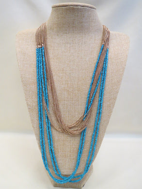 ADO | Blue & Gold Necklace - All Decd Out