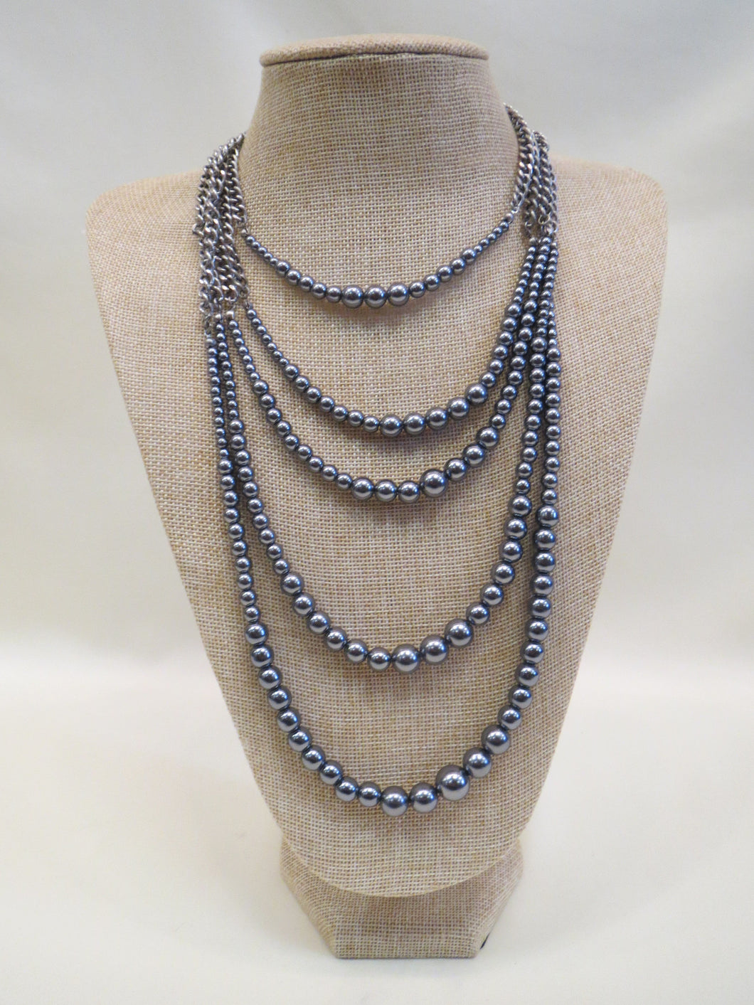 ADO Silver Pearl Layer Necklace | All Dec'd Out