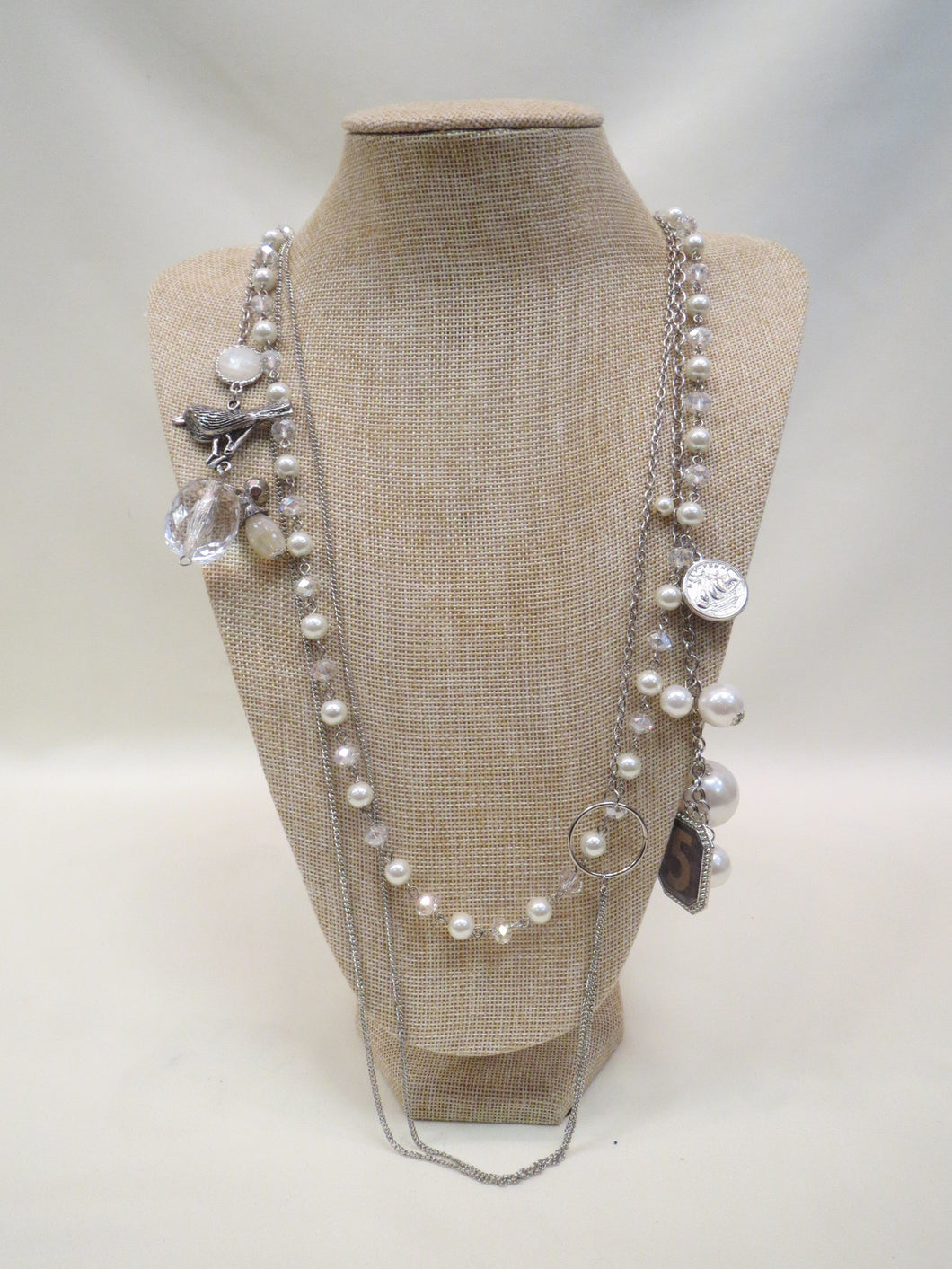 ADO Long Pearl Charm Necklace | All Dec'd Out