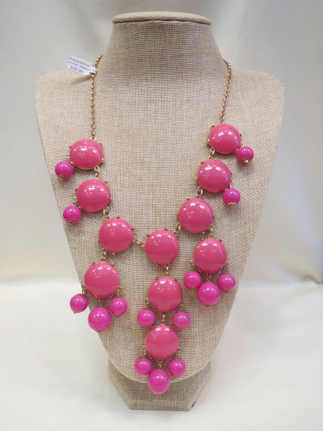 ADO | Bubble Necklace X-Large Long Pink - All Decd Out