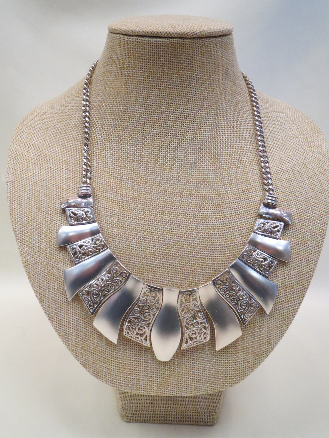 ADO Silver Statement Necklace | All Dec'd Out