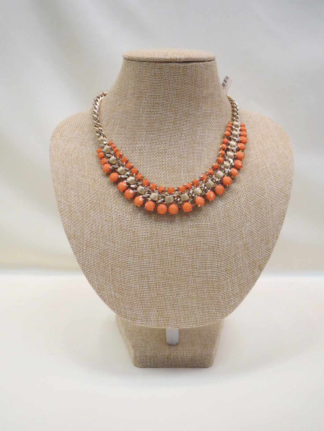 ADO Orange & Gold Chain Statement Necklace | All Dec'd Out