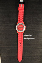 Red/Red Clear Rhinestones | Silicone Band - All Decd Out