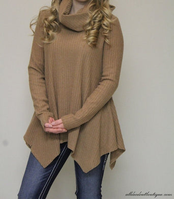 Camel Long Sleeve Sweater