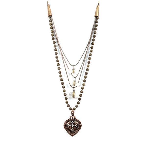 Treska Antoinette Collection Bead & Swag Necklace | All Dec'd Out