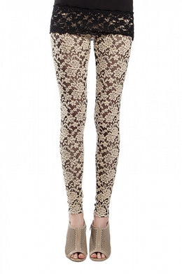 A'reve | Lace Leggings - All Decd Out