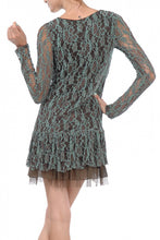 A'reve | Lace Dress Brown & Turquoise - All Decd Out