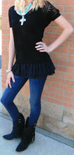 A'reve | Top with Ruffles Black - All Decd Out