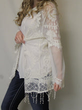 Blu Pepper | Lace Cardigan Ivory