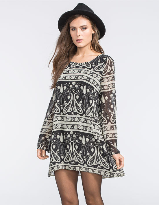 Blu Pepper Paisley Print Dress | All Dec'd Out