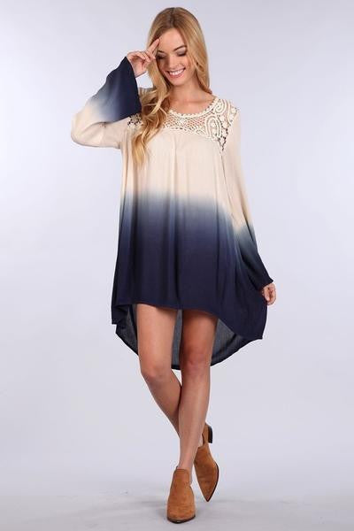 Blu Pepper Navy Ombre Dress Tunic  | All Dec'd Out