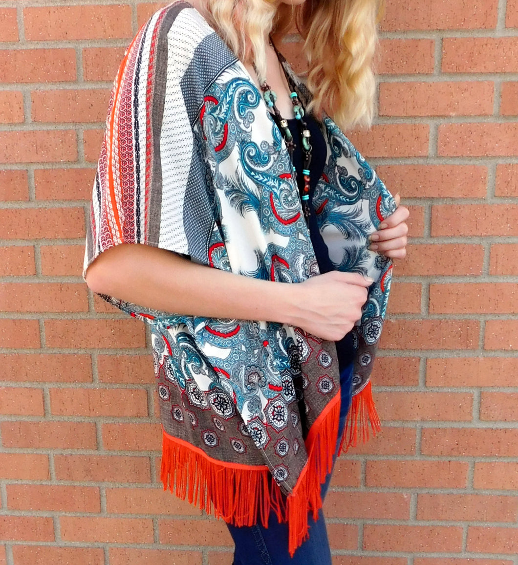 By Together Fringe Kimono | All Dec'd Out