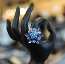 ADO | Crystal Flower Ring Blue - All Decd Out
