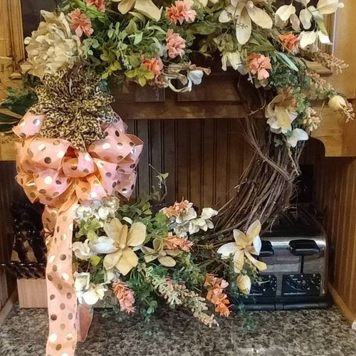 ADO | Hand-Made Custom Wreath Coral/Peach