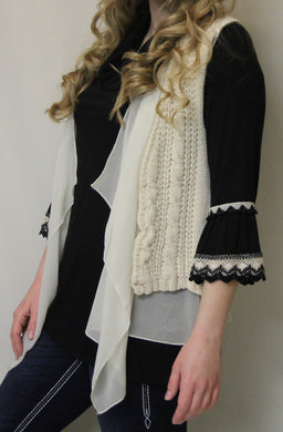 Costa Blanca | Crochet Natural Vest
