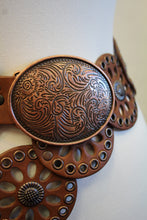 Cowgirls Rock | Round Leather Cut Out Belt Brown