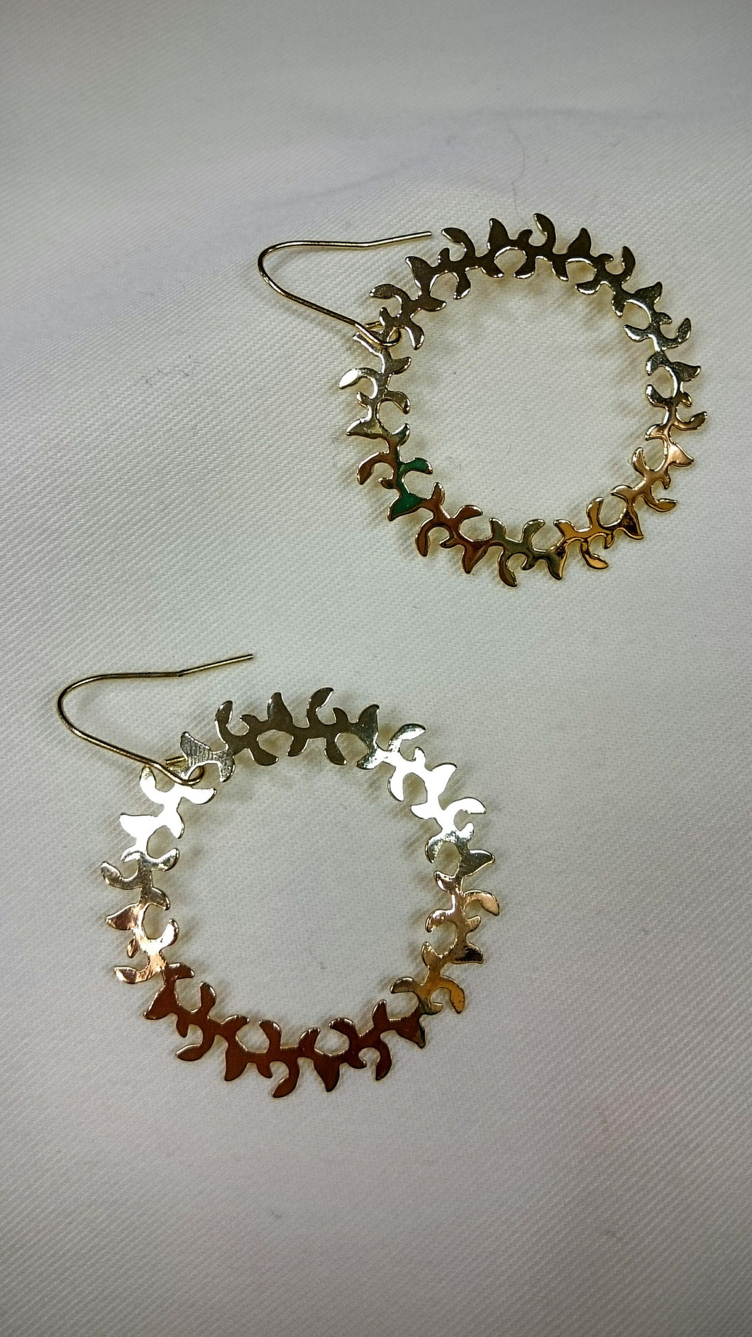 ADO | Hoop Dangle Earrings Gold - All Decd Out
