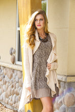Double Zero | Cut Out Cardigan Cream