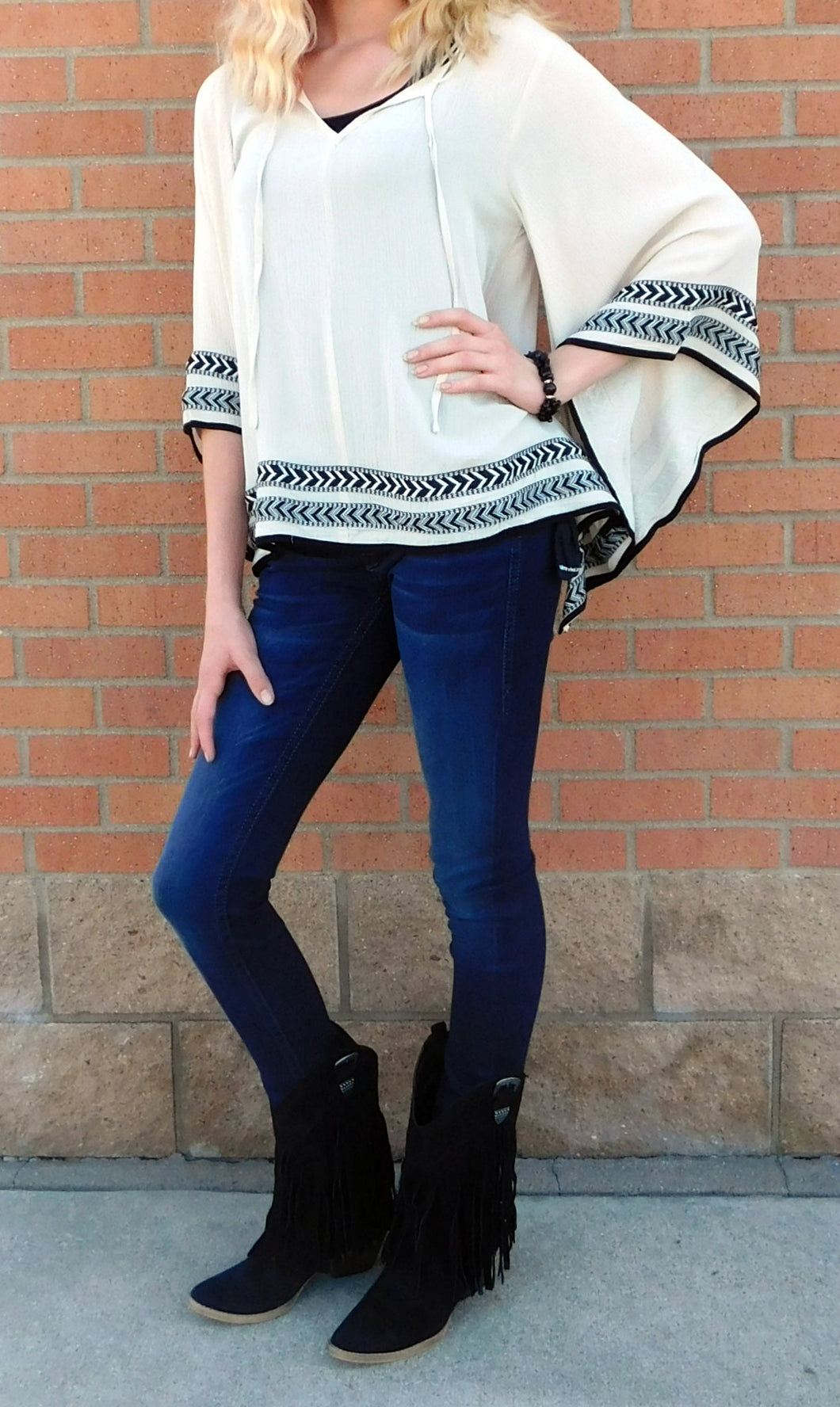 Double Zero Poncho Top Sand | All Dec'd Out