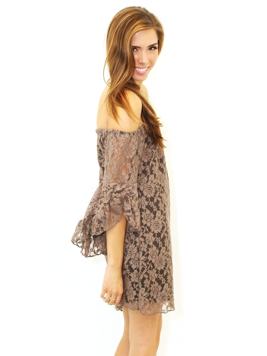Elan | Floral Lace Tunic Truffle