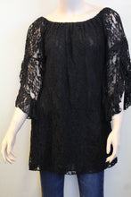 Elan | Floral Lace Tunic Black