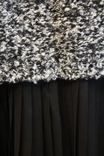 Elan | Black and White Crochet and Black Ruffles