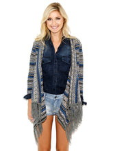 Elan Blue Sweater Cardigan with Pockets | All Dec'd Out